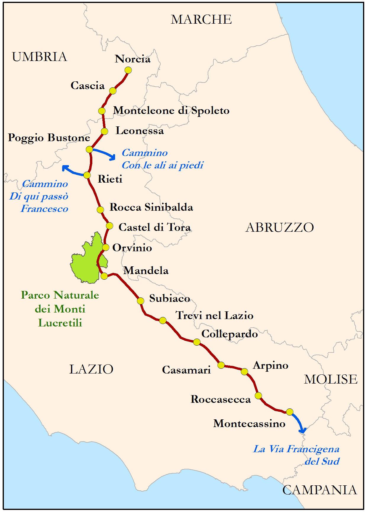 Chemins Vers Rome Assise Et San Michele Di Gargano Les