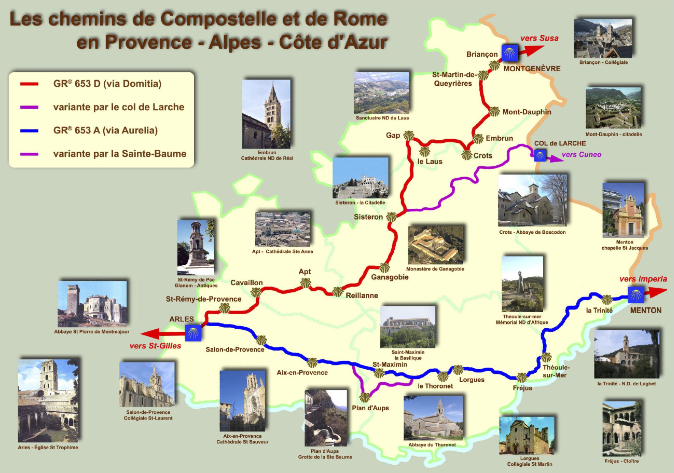 Chemins en r gion paca les amis de saint jacques de - Office du tourisme saint jacques de compostelle ...